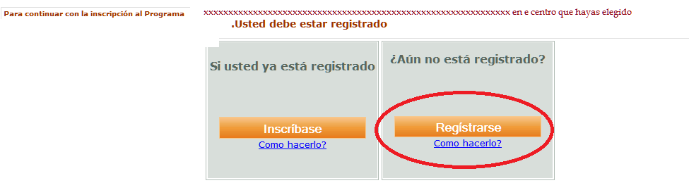 Registro en SOFIA Plus paso 1
